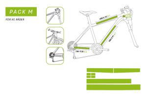 "Clearprotect safety sticker frame pack ""M"" XC Bike ( 8 pcs)"