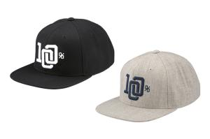 100% College snapback hat