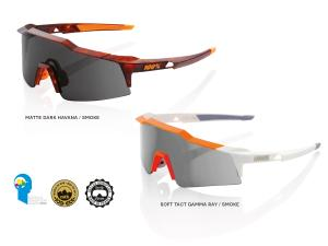100% Speedcraft sport sunglasses (SL) smoke lens