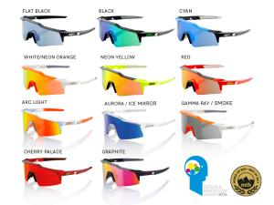 100% Speedcraft sport sunglasses (STD) mirror lens