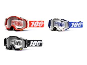 100% Racecraft goggle anti fog clear lens