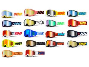 100% Accuri goggle anti fog mirror lens