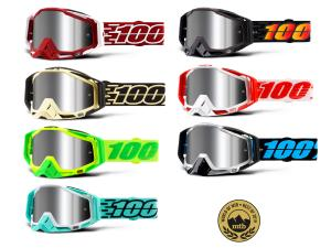 100% Racecraft Plus goggle injected mirror lens