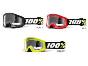100% Strata Mini goggle anti fog clear lens