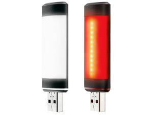 Fabric Lumacell set (USB front + USB rear light,30/20 Lumen)