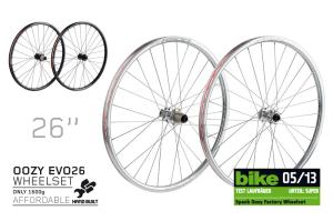 "Spank Oozy EVO 26"" wheelset 15mm + 12/142mm, incl. adapter"